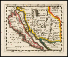 Southwest, Baja California and California Map By Pierre Du Val