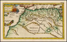 North Africa and Balearic Islands Map By Philipp Clüver  &  John Senex