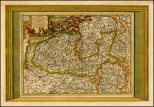 Belgium Map By Pieter van der Aa