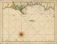 South and Louisiana Map By Thomas Jefferys