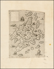 British Isles and Scotland Map By Anonymous / Lafreri School