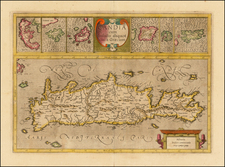 Greece and Mediterranean Map By Gerard Mercator
