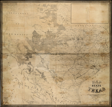 Texas Map By Charles Pressler / A. B. Langermann
