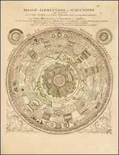 World, World, Southern Hemisphere, Polar Maps, Curiosities and Celestial Maps Map By Gregoire Mariette