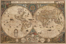 World and World Map By Frederick De Wit / Giuseppe Longhi