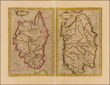 France, Italy, Corsica and Sardinia Map By  Gerard Mercator