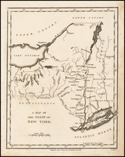 New York State Map By John Stockdale