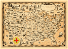United States Map By Ernest Dudley Chase