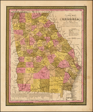 Southeast Map By Samuel Augustus Mitchell