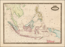 Southeast Asia, Philippines and Other Islands Map By F.A. Garnier