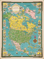 North America Map By Ernest Dudley Chase