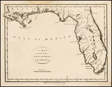 Florida and South Map By John Stockdale