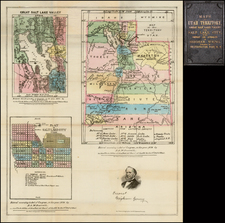 Southwest, Rocky Mountains and Utah Map By B.A.M. Froiseth