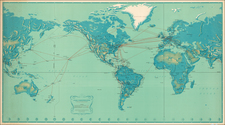 World and World Map By Pan American World Airways