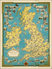 British Isles Map By Ernest Dudley Chase