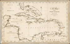 Caribbean and Central America Map By John Stockdale