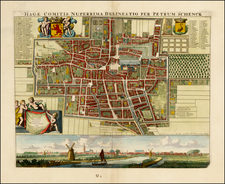 Netherlands Map By Peter Schenk