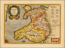 Wales Map By Henricus Hondius / Jan Jansson