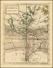 South America and America Map By Herman Moll