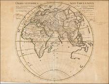 Eastern Hemisphere Map By Guillaume De L'Isle
