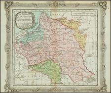 Poland and Baltic Countries Map By Louis Brion de la Tour