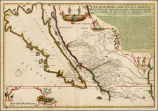Southwest, Mexico, Baja California, California and California as an Island Map By Nicolas de Fer