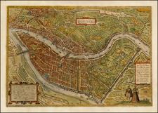 France Map By Georg Braun  &  Frans Hogenberg