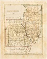 Midwest, Illinois, Plains and Missouri Map By Thomas Gamaliel Bradford