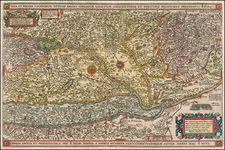 Hungary, Romania and Balkans Map By Claes Janszoon Visscher