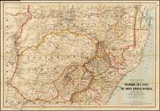 South Africa Map By Edward Stanford