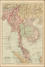 Southeast Asia Map By Edward Stanford