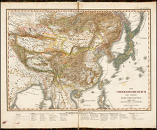 China, Japan and Korea Map By Adolf Stieler