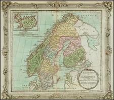Scandinavia Map By Louis Brion de la Tour