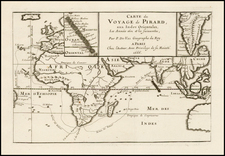 Indian Ocean, India, Southeast Asia, Other Islands and Australia Map By Pierre Du Val