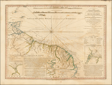 South America and Guianas & Suriname Map By William Faden