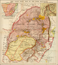 South Africa Map By George Philip & Son