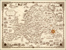 Europe and Europe Map By Ernest Dudley Chase