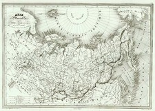 World, Polar Maps, Asia, Japan, Central Asia & Caucasus and Russia in Asia Map By Charles V. Monin