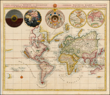 World and World Map By Cornelis Mortier
