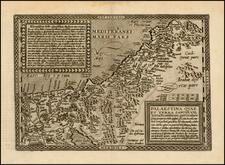 Holy Land Map By Matthias Quad / Johann Bussemachaer