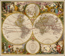 World and World Map By Gerard & Leonard Valk