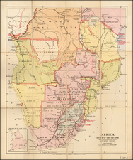 Africa, South Africa and East Africa Map By Edward Stanford