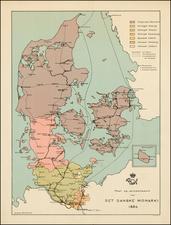 Denmark Map By Svend Arnholtz