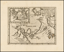 Polar Maps, Scandinavia and Canada Map By Philip Briet