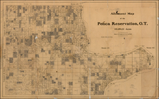 Plains and Oklahoma & Indian Territory Map By R. S. Steele