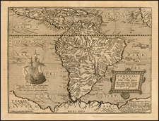 Central America and South America Map By Matthias Quad / Johann Bussemachaer