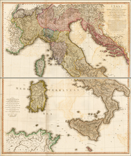 Austria, Balkans, Italy and Balearic Islands Map By William Faden