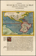 Western Hemisphere, South America, Australia and America Map By Giovanni Antonio Magini