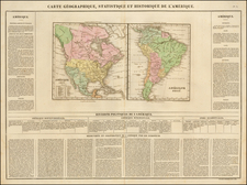 North America, South America and America Map By Jean Alexandre Buchon