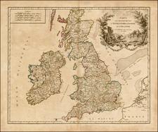 British Isles Map By Gilles Robert de Vaugondy